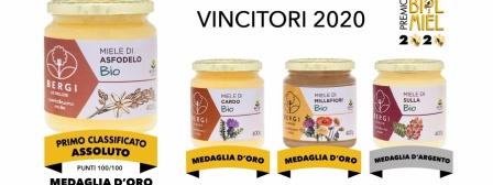 4 medaglie d'oro per il miele Bergi. Asfodelo miglior miele unifloreale in assoluto.