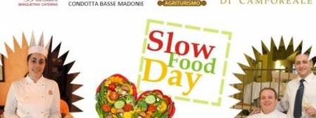 Castelbuono: cena a quattro mani in occasione dello Slow Food Day. Sandro Cicero del ristorante Palazzaccio e Antonella Di Garbo dell'agriturismo Bergi sposano i presidi madoniti